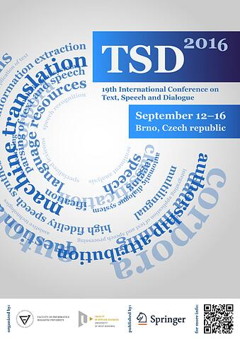 19th International Conference on Text, Speech and Dialogue (TSD 2016) II.