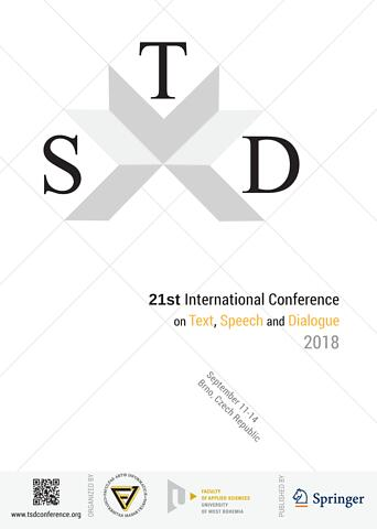 TSD 2018 - 21st International Conference on Text, Speech and Dialogue